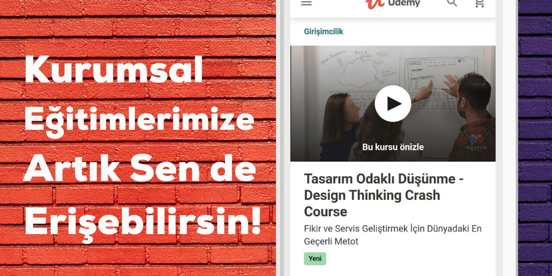 Udemy Design Thinking Eğitimi Makers Türkiye